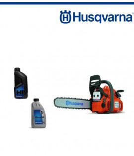 Бензинов моторен трион Husqvarna 440 E-SERIES + Двутактово масло 1л, и масло за смазване на веригата 1л.