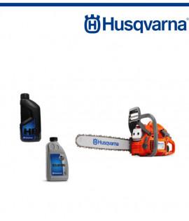 Верижен трион бензинов Husqvarna 450E ll + Масло двутактово 1л + Масло за смазване на веригата 1л