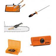 Stihl Инструменти и аксесоари за поддръжка режещата гарнитура на моторните триони