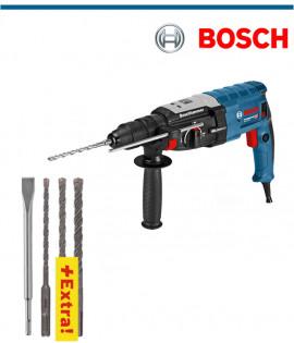 Перфоратор Bosch GBH 2-28 F Professional с подарък секач и 3 свредла