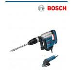 Къртач Bosch GSH 5 CE с подарък ъглошлайф Bosch GWS 850 C
