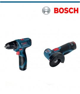 Акумулаторен винтоверт Bosch GSR 120-LI в комплект с ъглошлайф Bosch GWS 12V-76
