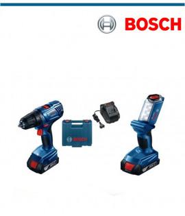 Акумулаторен винтоверт Bosch GSR 180-L с подарък акумулаторна лампа GLI 18V-300