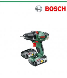 Акумулаторен двускоростен пробивен винтоверт литиево-йонен  Bosch PSR 18 LI-2 с две батерии
