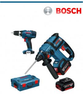 Акумулаторен перфоратор Bosch GBH 18V-EC Professional + акумулаторен винтоверт Bosch GSR 18-2-LI Plus