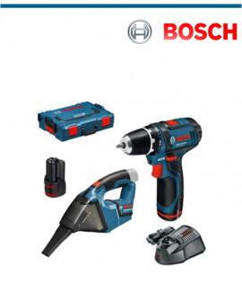 Акумулаторен винтоверт Bosch GSR 12V-15 в комплект акумулаторна прахосмукачка Bosch GAS 12V