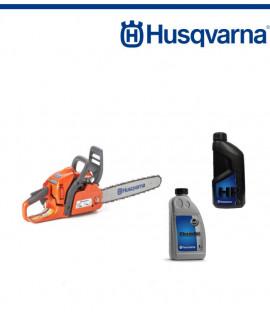 Верижен трион бензинов Husqvarna 435 + Масло двутактово 1л + Масло за смазване на веригата 1л